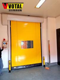 门帘是软的PVC的快速卷帘门