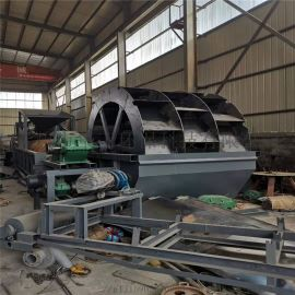 破碎山砂洗砂机技术参数  全自动轮斗式洗砂机厂家