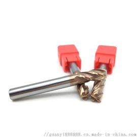 55度钨钢涂层螺旋立铣刀平刀数控圆角铣刀平底刀