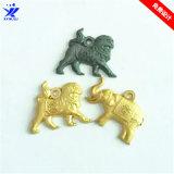 高品質精美卡通吊飾金屬鑰匙掛件電鍍獅子大象手機吊牌