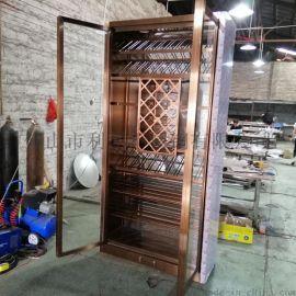酒莊恆溫酒櫃 不鏽鋼紅酒櫃定制廠家
