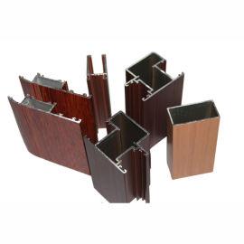 河南 興發鋁材廠家直銷木紋鋁合金門窗型材
