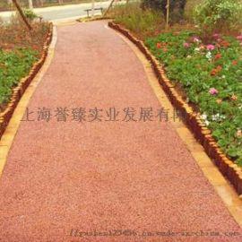 惠州誉臻小区彩色艺术压花路面,城市透水地坪建设