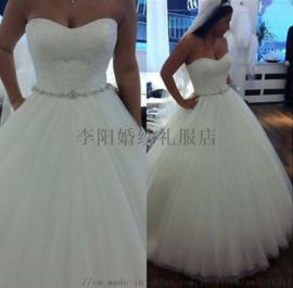 高檔齊地外貿婚紗新娘結婚出門紗