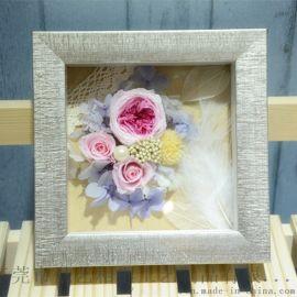 永生花相框批發 立體加厚畫框 內立體空間 禮品框 放仿真植花物框