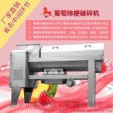 不鏽鋼葡萄除梗破碎機除梗乾淨利落選鑫華輕工機械
