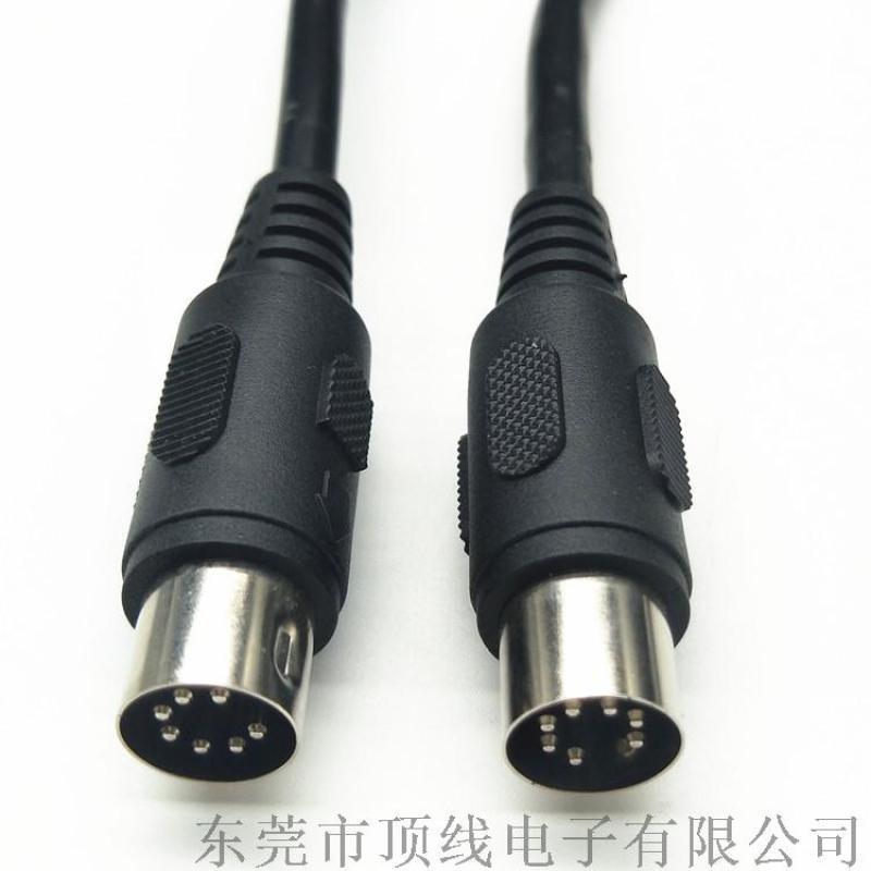 大DIN 7P公对公 大电流电源线