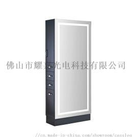 智能浴室镜led镜子发廊镜黑色