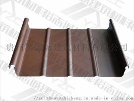 供应毕节铝镁锰板直立锁边屋面系统65-430厂家