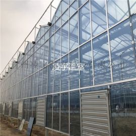 小型玻璃温室 种植温室 温室定制 智能生态温室