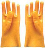 黄色PVC浸胶手套