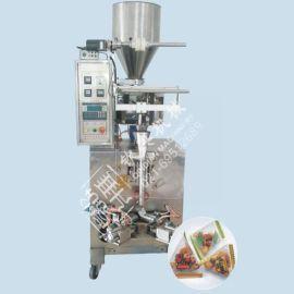 湘潭钾硝酸盐颗粒三角袋充气包装机|Q仔糖食品颗粒自动包装机