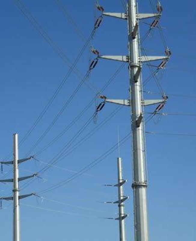 德州10KV电力钢杆、高杆灯