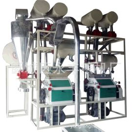 厂家直销莜麦杂粮全套磨粉机 皮芯分离面粉机双机组