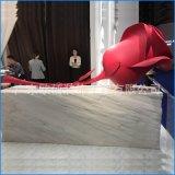 """氟碳双曲铝单板艺术定制厂家 铝合金""""玫瑰花""""工艺品加工生产"""