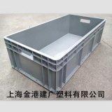 供应  塑料周转箱800*400*230 汽车配件塑料箱 仓储转用周转箱