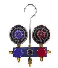 2路铝制冷媒压力表