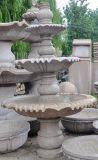 黃鏽石噴泉水鉢、黃金麻水鉢噴泉、花崗巖石雕噴泉