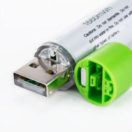 快充USB聚合物电芯AA/14500/5号锂电池