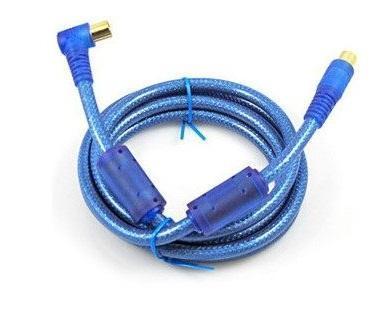 深蓝色FWSP-A高清有线电视线数字闭路射频RF机顶盒连接线