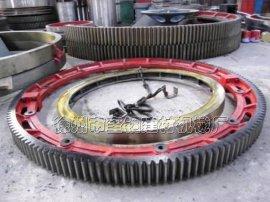 湖北2.4米复合肥滚筒造粒机大齿轮