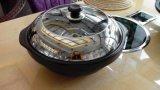 玉鍋宴蒸汽火鍋設備專用直徑38CM雙耳金鋼鍋