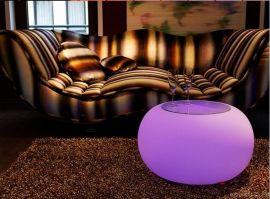 厂家一件代发 发光腰鼓咖啡桌 led发光装饰家具 发光茶几 发光家具