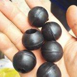 弹力打孔橡胶球硅胶球/中间可以打孔的橡胶球