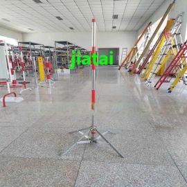 电力安全围网支架 警示带支架围栏 铁墩叉形伞式围栏支架