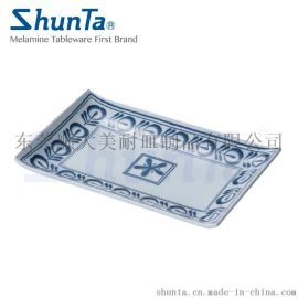 shunta唐草西式密胺长方盘 创意平盘4104