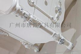 唐哲家具 欧式床头柜 白色床头柜 法式床头柜
