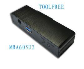 TOOLFREE MRA605U3 2.5+3.5寸外接硬盘盒