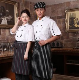 酒店厨师服短袖夏装黑色餐厅工作服餐饮后厨房衣服男透气薄款工衣