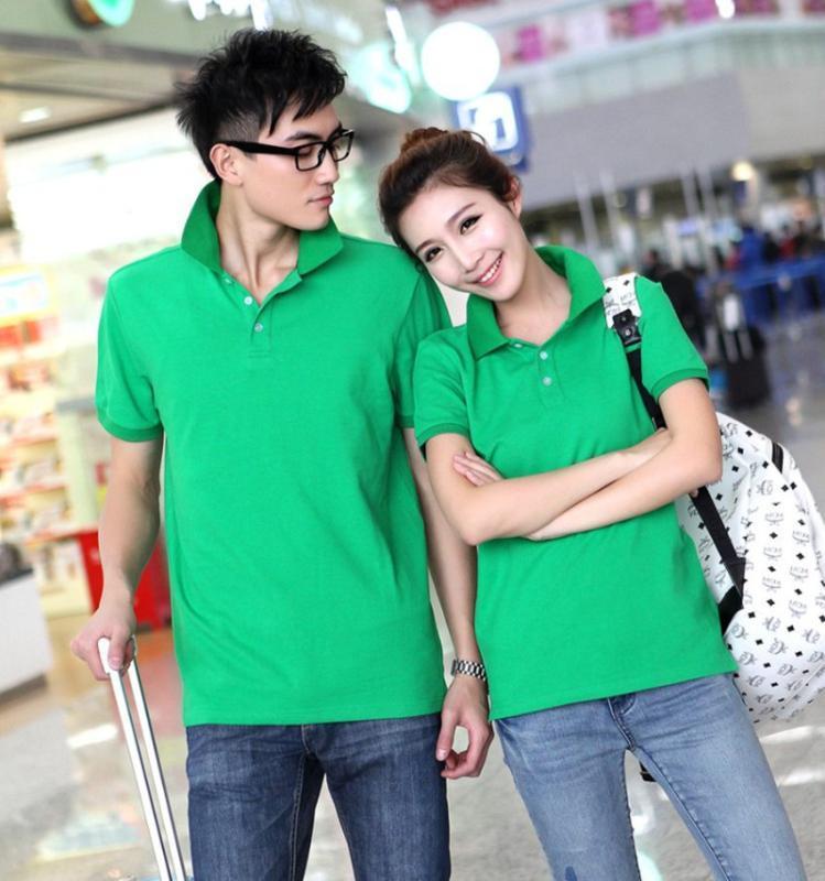 夏季工作服翻领文化衫DIYT恤定做广告衫厂服衣服短袖男式Polo班服
