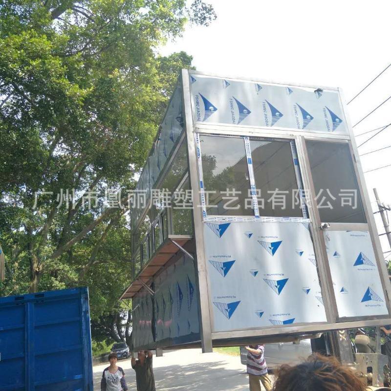 不鏽鋼保安崗亭定製廠家 門衛室不鏽鋼定製崗亭售賣亭
