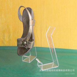 定做亚克力透明热弯成型皮鞋架专卖店鞋架展示架亚克力鞋架批发