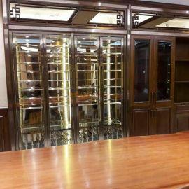 不鏽鋼酒櫃 商用恆溫不鏽鋼紅酒櫃 酒莊酒吧酒架廠家直銷 中式