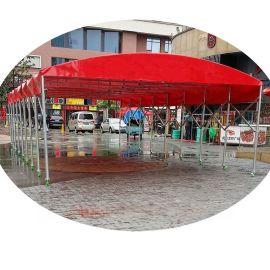 长沙推拉帐篷推拉雨棚加固大排档雨棚带轮式烧烤篷