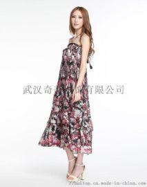 纤姿锦夏季真丝连衣裙时尚前卫面料舒适