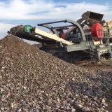 濟南大型移動式石料破碎機 建築垃圾破碎機