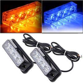 4LED爆闪灯 安全警示灯 12-24V汽车车门侧边灯 4LED频闪灯