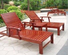 户外休闲木质沙滩椅 木躺床定制