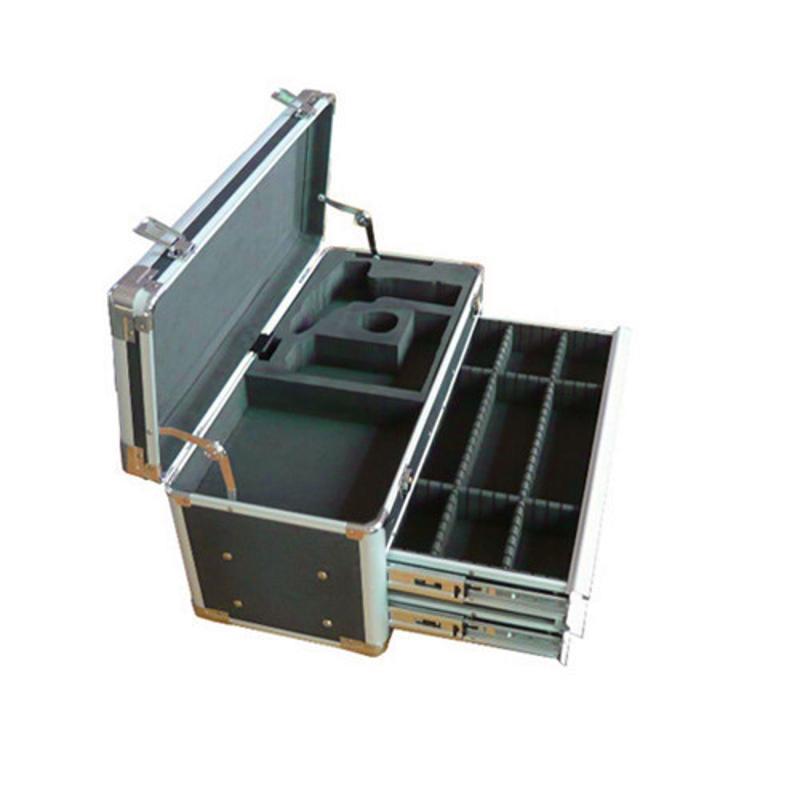 航空铝箱生产厂家、大型仪器器械航空运输箱、内设防震垫可印刷l