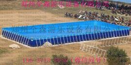 大型支架水池 移动水上乐园 支架游泳池来袭