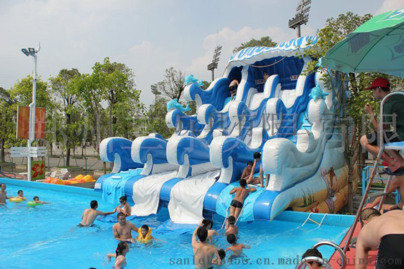 广西南宁小型水上乐园充气水池游泳池