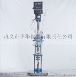 小型双层玻璃反应釜 聚四氟乙烯组件密封真空度高