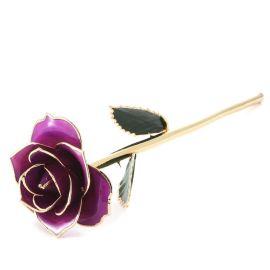 黛雅镀金玫瑰花婚庆用品 烤漆玫瑰花 紫色 厂家批发