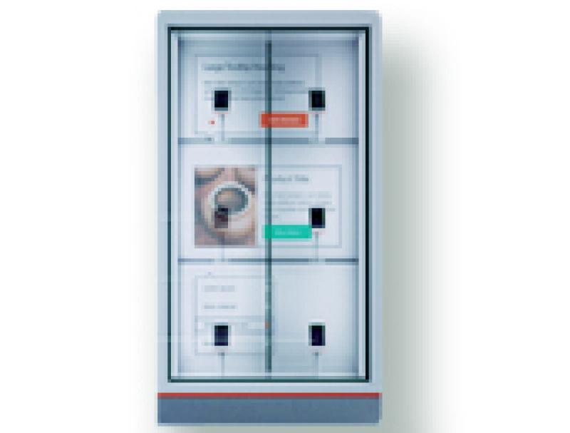 透明触控交互式售货冷柜/博物展览馆、展示厅
