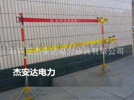 不锈钢5米双带绝缘伸缩围栏,杰安达绝缘带式围栏厂家