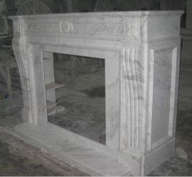 白色大理石壁炉